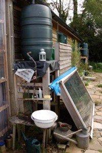 Cisterna d'acqua con riscaldamento a pannello solare