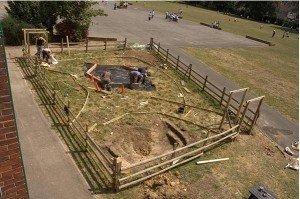 Il primo impianto del giardino commestibile