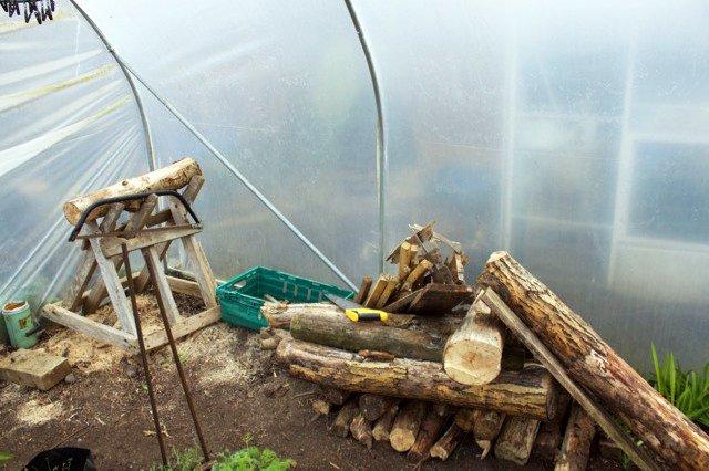tronchi legno permacultura